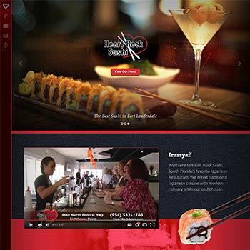 Heart Rock Sushi website